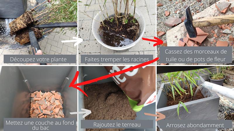 Remplissage d'une jardinière en 6 étapes